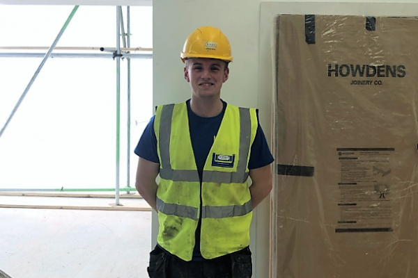 Jones Building Group Apprentice Louie Fry is currently carrying out refurbishment work at Blake Envelopes alongside his NVQ level 3 Carpentry at Yeovil College.