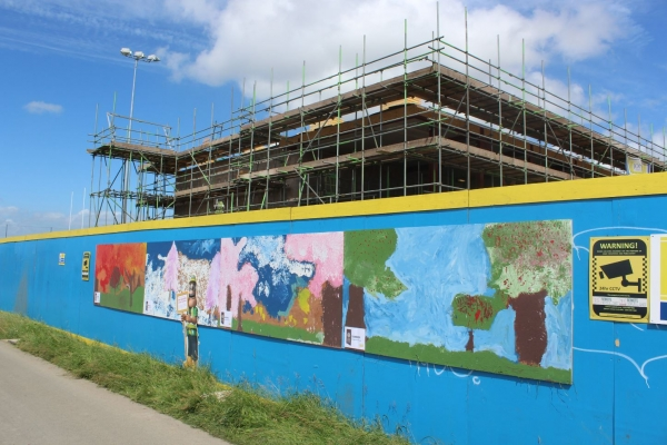 Local School are Runners up in Ivor Goodsite Hoarding Competition at Lockleaze