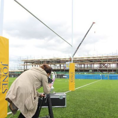 Made in Bristol TV filming at the opening of the Loackpeaze pitch