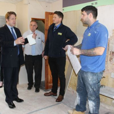 Marcus Fysh and Jones Building Group Apprentices at Yarlington Housing Group properties